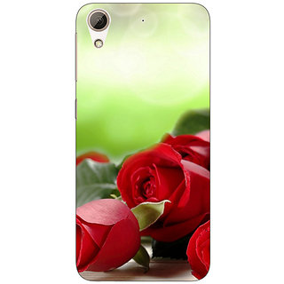 Absinthe Roses Back Cover Case For HTC Desire 626