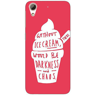 Absinthe Ice Cream Quote Back Cover Case For HTC Desire 626G