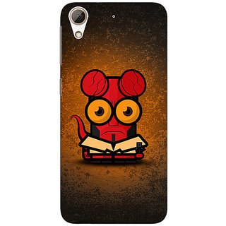 Absinthe Big Eyed Superheroes Hell Boy Back Cover Case For HTC Desire 626G+