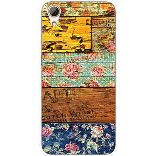 Absinthe Floral Pattern  Back Cover Case For HTC Desire 626G+