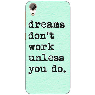 Absinthe Dream Quotes Back Cover Case For HTC Desire 626G