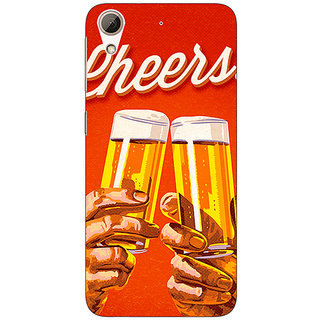 Absinthe Beer Quote Cheers Back Cover Case For HTC Desire 626G+