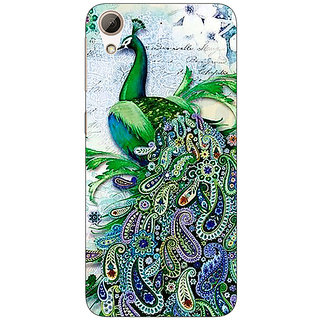 Absinthe Paisley Beautiful Peacock Back Cover Case For HTC Desire 626G+
