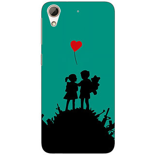 Absinthe Cute Couple  Back Cover Case For HTC Desire 626S