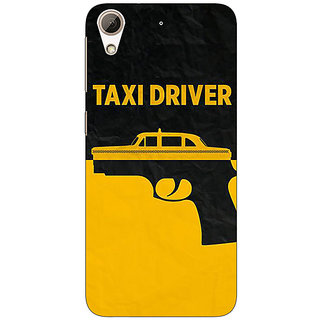 Absinthe Hollywood Taxi Driver Back Cover Case For HTC Desire 626G+