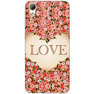Absinthe Love Floral Back Cover Case For HTC Desire 626G+