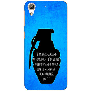 Absinthe TFIOS Grenade  Back Cover Case For HTC Desire 728