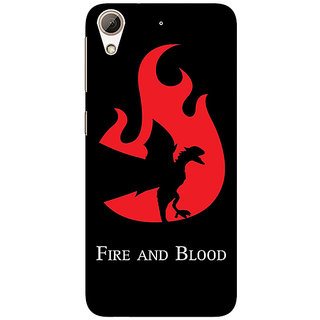 Absinthe Game Of Thrones GOT House Targaryen  Back Cover Case For HTC Desire 728