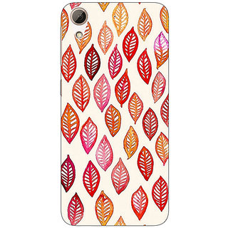Absinthe Red Leaves Pattern Back Cover Case For HTC Desire 626S