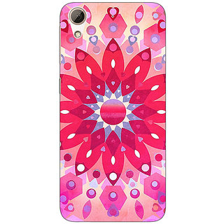 Absinthe Red Flower Pattern Back Cover Case For HTC Desire 626S