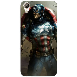 Absinthe Captain America Back Cover Case For HTC Desire 626S