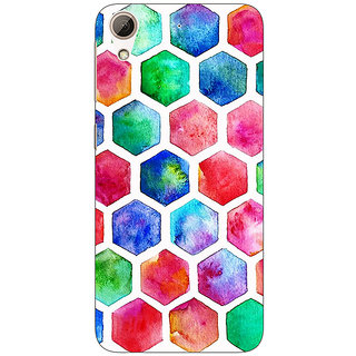 Absinthe Colour Hexagons Pattern Back Cover Case For HTC Desire 728