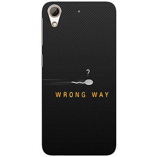 Absinthe Wrong Way Back Cover Case For HTC Desire 728