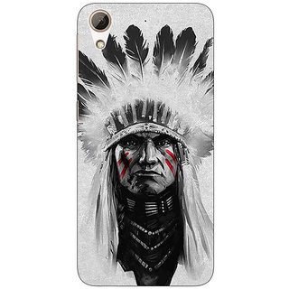 Absinthe Triabl Man Back Cover Case For HTC Desire 728