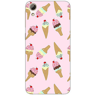 Absinthe Ice Cream Doodle Back Cover Case For HTC Desire 728