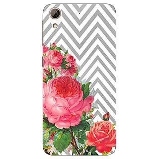 Absinthe Floral Pattern  Back Cover Case For HTC Desire 728
