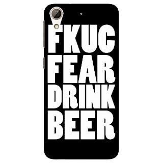 Absinthe Beer Quote Back Cover Case For HTC Desire 728