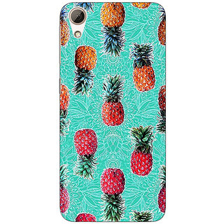 Absinthe Pineapple Pattern Back Cover Case For HTC Desire 728G Dual Sim