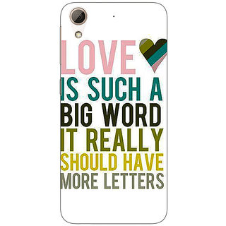 Absinthe Quotes Love Back Cover Case For HTC Desire 728G Dual Sim