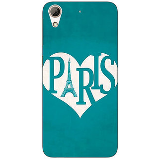 Absinthe Paris love Back Cover Case For HTC Desire 728G Dual Sim