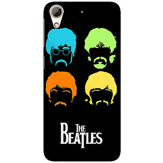 Absinthe The Beatles Back Cover Case For HTC Desire 728G Dual Sim