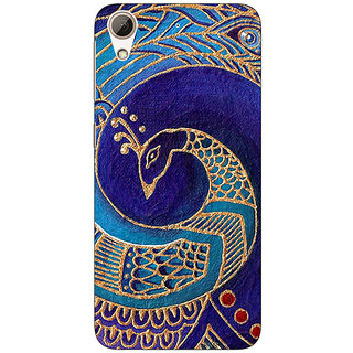 Absinthe Paisley Beautiful Peacock Back Cover Case For HTC Desire 728G Dual Sim