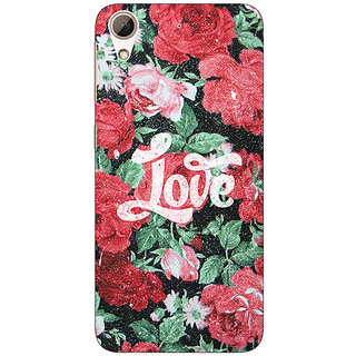 Absinthe Floral Pattern  Back Cover Case For HTC Desire 728 Dual Sim