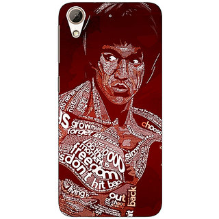 Absinthe Bruce Lee Typography Back Cover Case For HTC Desire 728 Dual Sim