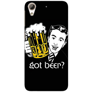Absinthe Beer Quote Back Cover Case For HTC Desire 728 Dual Sim