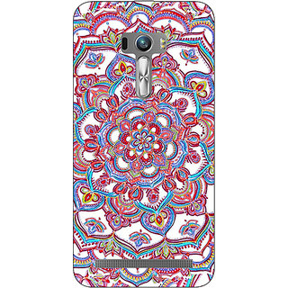 Absinthe Flower Circles Pattern Back Cover Case For Asus Zenfone Selfie
