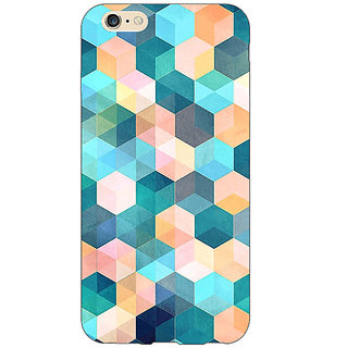 Absinthe Blue Hexagon Pattern Back Cover Case For Apple iPhone 6S