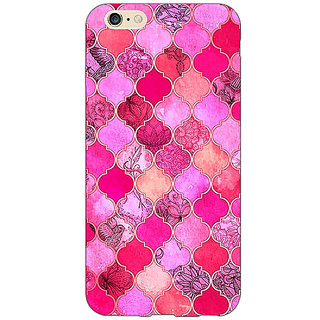 Absinthe Pink Moroccan Tiles Pattern Back Cover Case For Apple iPhone 6S
