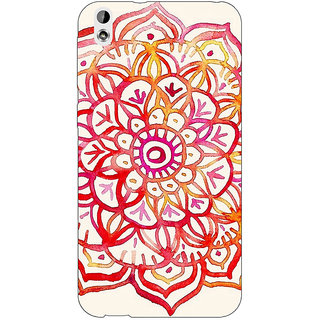 Absinthe Flower Floral Pattern Back Cover Case For HTC Desire 816G