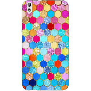 Absinthe Coloured Hexagon Pattern Back Cover Case For HTC Desire 816G