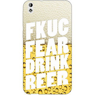 Absinthe Beer Quote Back Cover Case For HTC Desire 816G