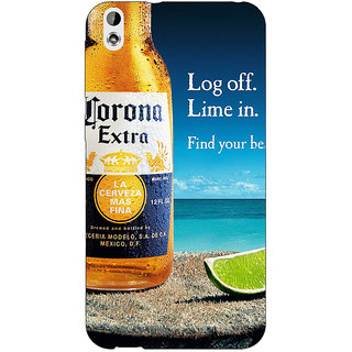 Absinthe Corona Beer Back Cover Case For HTC Desire 816G