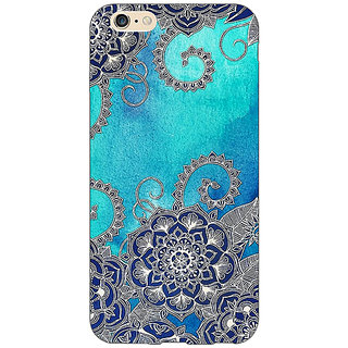 Absinthe Blue Doodle Pattern Back Cover Case For Apple iPhone 6S