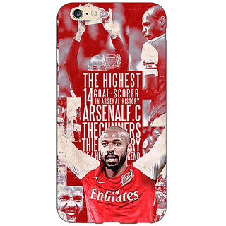 Absinthe Arsenal Therry Henry Back Cover Case For Apple iPhone 6S