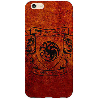 Absinthe Game Of Thrones GOT House Targaryen  Back Cover Case For Apple iPhone 6S Plus