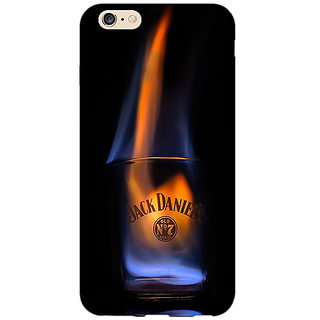 Absinthe Jack Daniels JD Whisky Flaming Back Cover Case For Apple iPhone 6S Plus