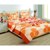 House This 1 Double Bed Sheet And 2 Pillow Covers (Design 19)