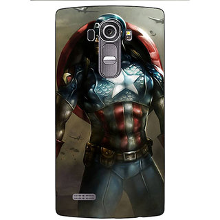 Absinthe Captain America Back Cover Case For LG G4