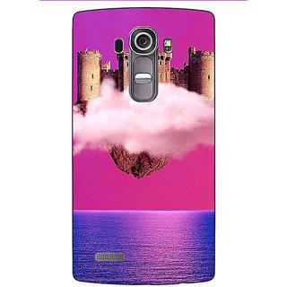 Absinthe Flying Castle Dream Back Cover Case For LG G4
