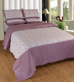 Geonature cotton Wine double badsheet with 2 pillow cover (G1BED-216)