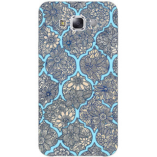 Absinthe Sky Morroccan Pattern Back Cover Case For Samsung Galaxy J5