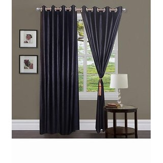 Home Fashion Gallery 2 Piece Wine Plain Long Door Curtain