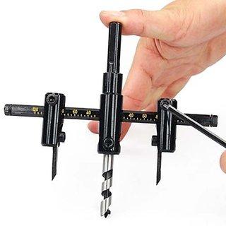 Adjustable Hard BoardMetal Circle Hole Saw Drill Bit Cutter Kit DIY Tools All Wo