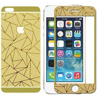 iPhone 4 3D Diamond Design Pattern Tempered Glass Screen Protector Gold