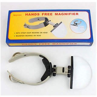 Lighted Magnifying Glass Head Headband Magnifier Loupe