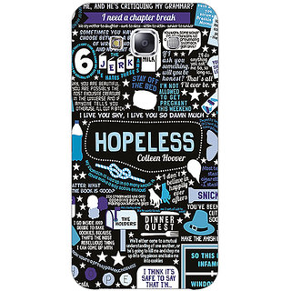 Absinthe TFIOS HOPELESS  Back Cover Case For Samsung Galaxy J3